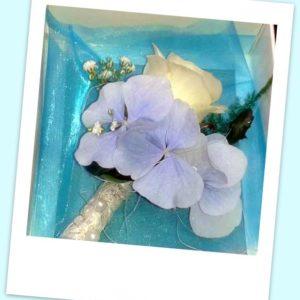 0c1443c81ce Rinnanõel hortensia ja roosiga